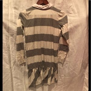 Ralph Lauren Dresses - Ralph Lauren Rugby Dress stripe gray white XL 16